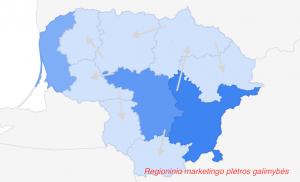 Google reklamos galimybės regionuose